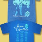 THE JONAS BROTHERS - WORLD TOUR 2009 CONCERT TOUR T-SHIRT *NEW* / SZ. L