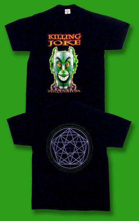 """THE KILLING JOKE - VINTAGE 90'S """"MILLENNIUM"""" CONCERT TOUR T-SHIRT *NEW* / SZ. XL"""
