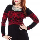 SOURPUSS - GINGERDEAD MAN UGLY CHRISTMAS SWEATER DRESS, TUNIC *NEW*