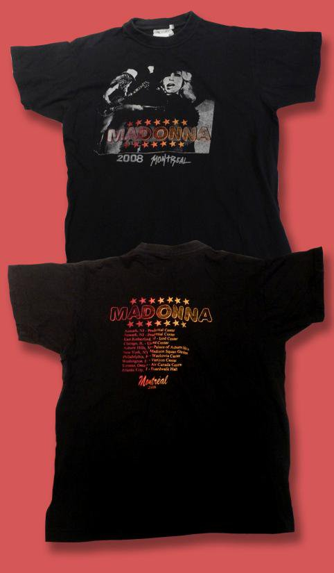 MADONNA - 2008 MONTREAL CONCERT TOUR T-SHIRT / SZ. S