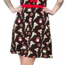 SOURPUSS - ROLLER DERBY DARLIN' DRESS,  ROLLER SKATES PRINT - RED *NEW* / SZ. XL