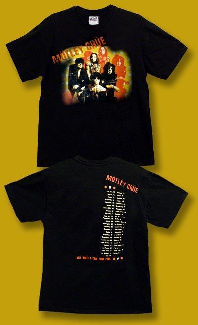MOTLEY CRUE - 2005 RED, WHITE & CRUE CONCERT TOUR T-SHIRT / SZ. M