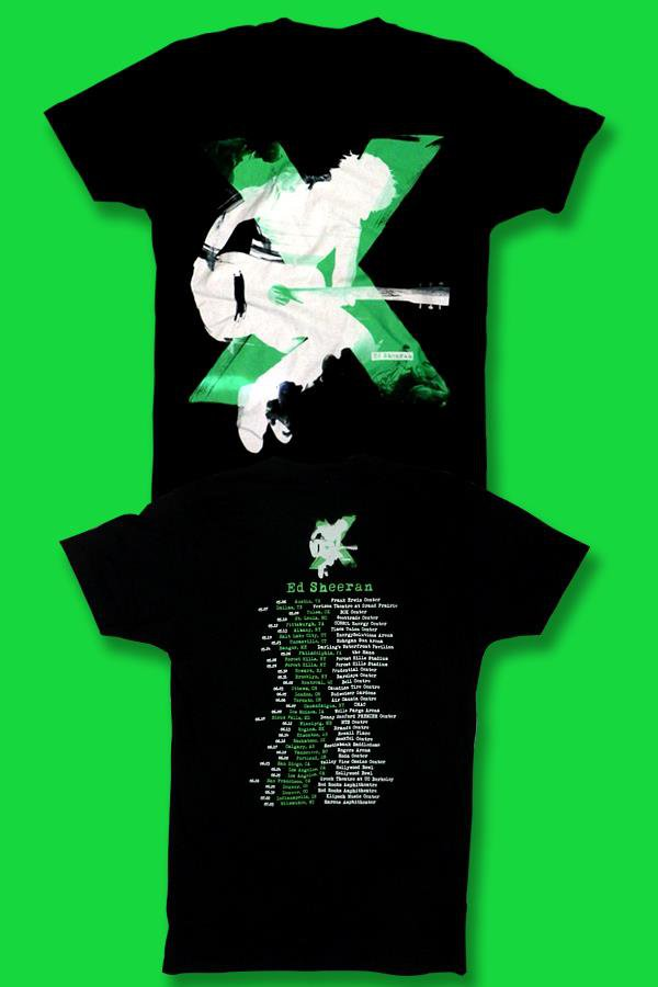 ED SHEERAN - 2015 NORTH AMERICA CONCERT TOUR T-SHIRT *NEW* / SIZE LARGE