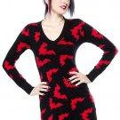 SOURPUSS - BATTY BAT, HORROR SWEATER CARDIGAN DRESS, TUNIC *NEW*