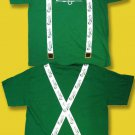 "CARLSBERG BEER - ST PATRICK'S DAY ""ST. PARTY'S DAY"" SUSPENDERS T-SHIRT *NEW* / L"