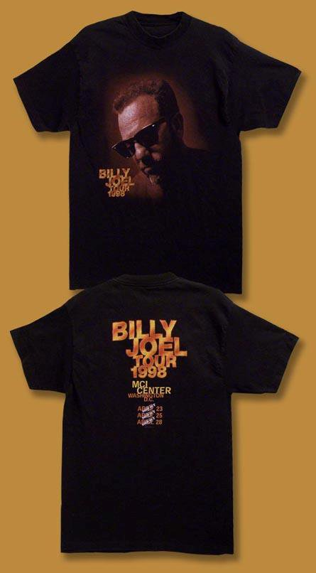 Billy joel 1998 washington dc mci center concert tour t for T shirts printing washington dc