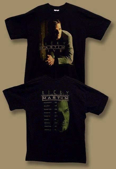 """RICKY MARTIN - """"LIVIN' LA VIDA LOCA"""" 1999 CONCERT TOUR T-SHIRT *NEW* / SZ. XL"""