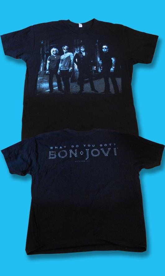 """BON JOVI - 2010 """"WHAT DO YOU GOT?"""" CONCERT TOUR T-SHIRT *NEW* / SZ. L"""