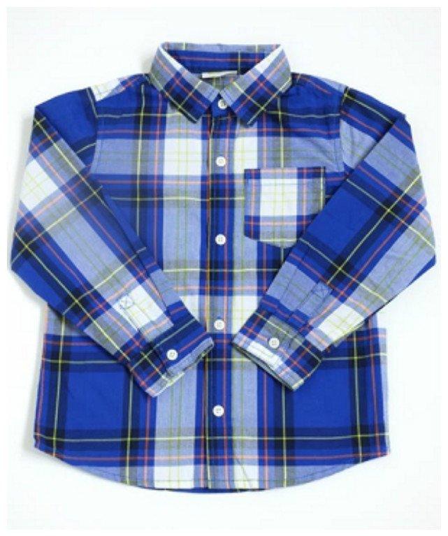 New Crazy 8 Blue/Neon Green/White Stripe Boys' Long Sleeve Shirt, 3T