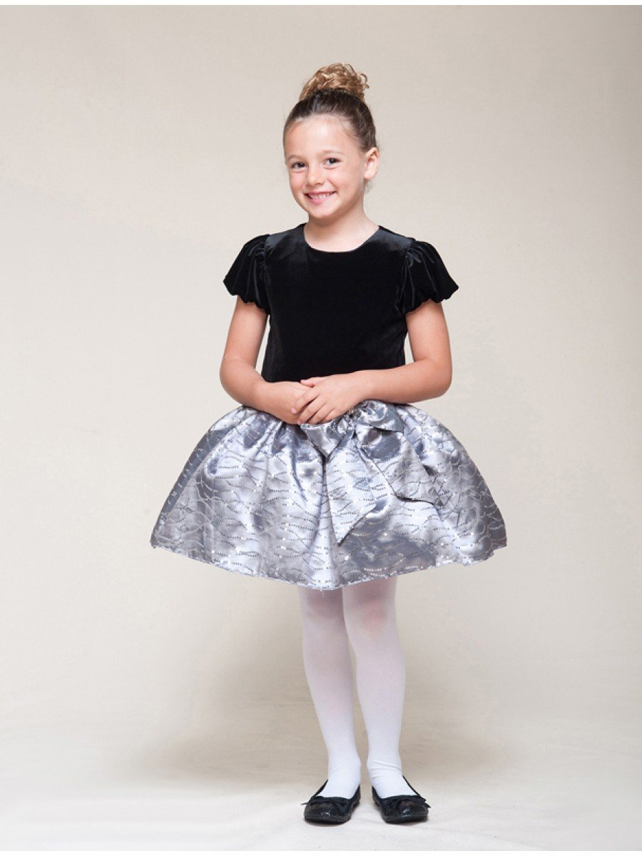 NEW CRAYON KIDS Girls Black/Grey Special Occasion Holiday Dress, 2T