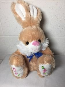 """Dan Dee Collectors Choice Plush Easter Bunny Rabbit Embroidered 14"""""""