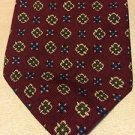 VINTAGE ABERCROMBIE & FITCH Silk Neck Tie Maroon Luxury Mens