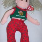"TY 2001 Beanie Boppers ""Jolly Janie"" Christmas Plush Doll March 30 Birthday"