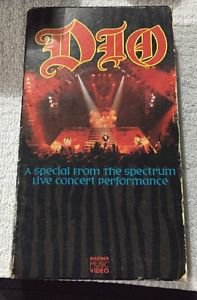 VHS:  DIO A SPECIAL FROM THE SPECTRUM LIVE CONCERT PERFORMANCE