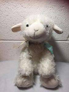 Hallmark LITTLE BLESSINGS Lamb Lovey Cross Curly Plush Stuffed Animal NEW