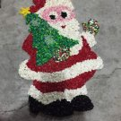 Vtg. Melted Plastic Popcorn CHRISTMAS DECORATION SANTA CLAUS COLLECTIBLE
