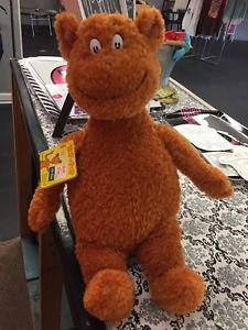 "HOP ON POP Brown Bear Plush by DR SEUSS 17"" TALL Kohl's Cares Stuffed Animal NEW"