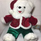 "2009 Snowflake Teddy Plush Christmas Bear 20"" Boy Tags Dan Dee Collectors Choice"