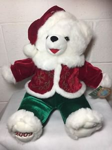 "2009 Snowflake Teddy Plush Christmas Bear 20"" Boy Tags Dan Dee Collectors Choice"