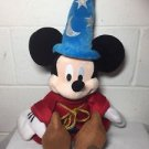 "Genuine Disney Store 24"" Fantasia Mickey Mouse Sorcerer Stuffed Plush Wizard"