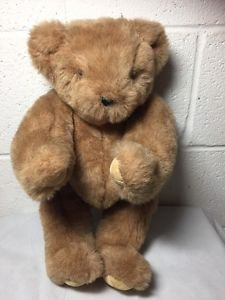 """Vermont Teddy Bear Co. Jointed Moving Teddy Bear Light Brown BIG 15"""" 1994"""