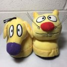 Catdog Nwot Medium 7-8 Nickelodeon Cartoon Character Plush Slippers Catdog