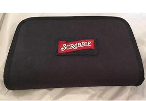 2001 HASBRO Scrabble Crossword Board Game Folio Travel Edition Zipper Case Bag