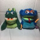 "Manhattan Toys 9"" MONSTER Hand Puppet Plush Dolls New With Tags NWT Lot Of 2"