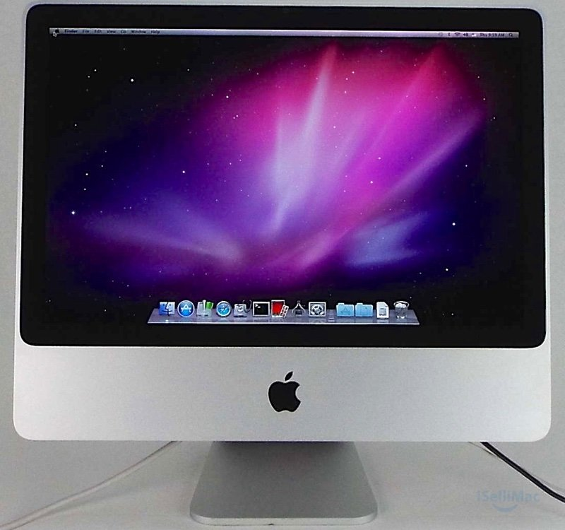 "Apple Aluminum 20"" IMac 2.66GHz C2D 320GB 2GB MB324LL/A + C Grade + Warranty!"