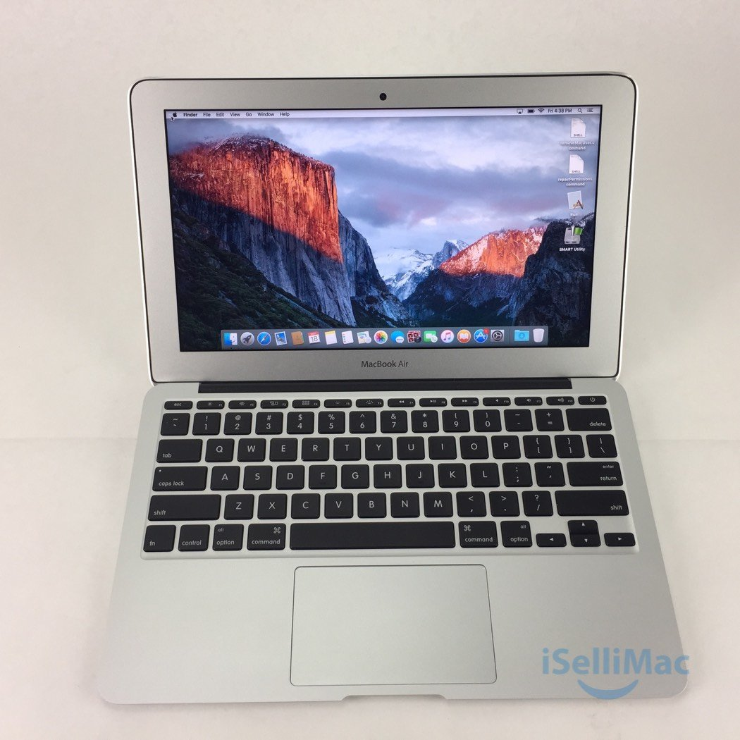 "Apple 2015 MacBook Air 11"" 1.6GHz I5 128GB SSD 4GB MJVM2LL/A + B Grade"