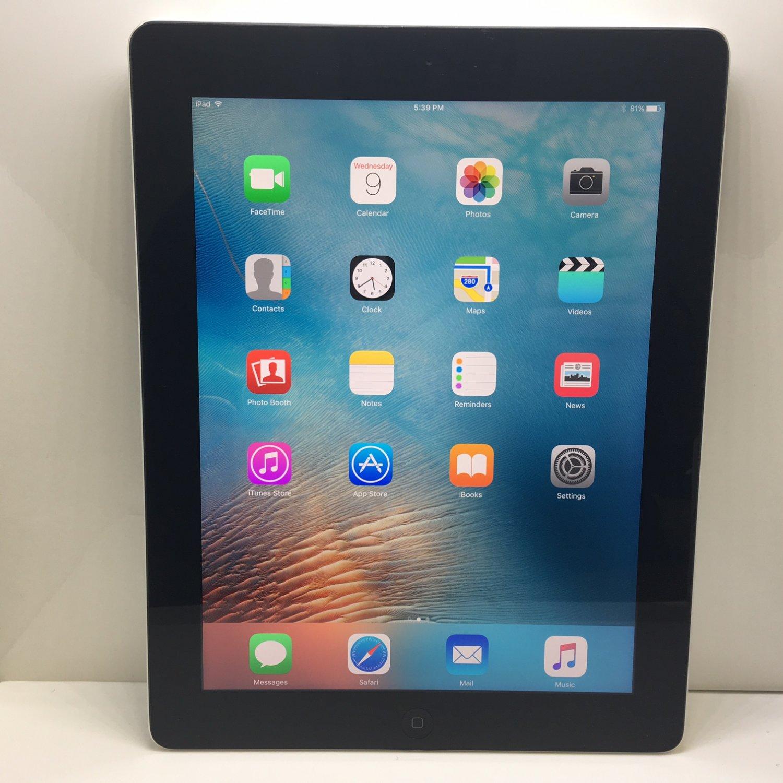 Apple IPad 4 4TH GEN Retina WiFi 16GB Black MD510LL/A + C Grade + Warranty!