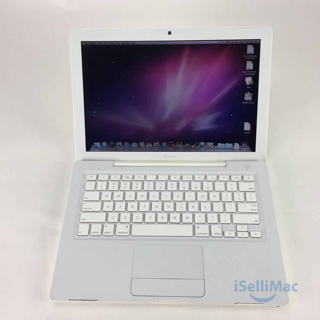 """Apple 2006 White MacBook 13"""" 1.83GHz CD 60GB 1GB MA254LL/A + C Grade + Warranty!"""