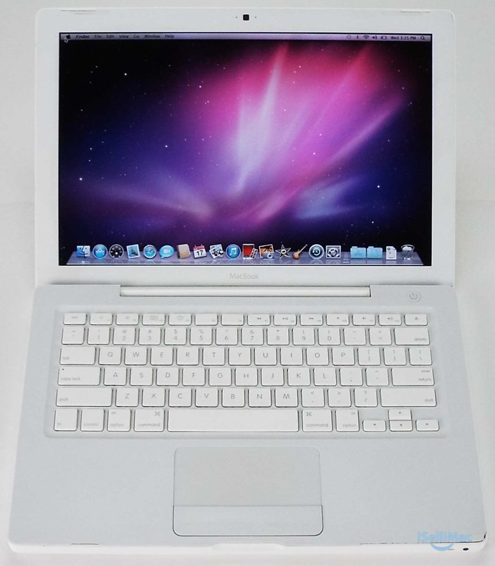 "Apple 2008 White MacBook 13"" 2.1GHz C2D 120GB 1GB MB402LL/A + B Grade + Warranty"