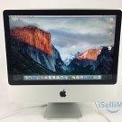"Apple 2007 Aluminum 20"" IMac 2.4GHz C2D 320GB 4GB MA877LL + C Grade + Warranty!"