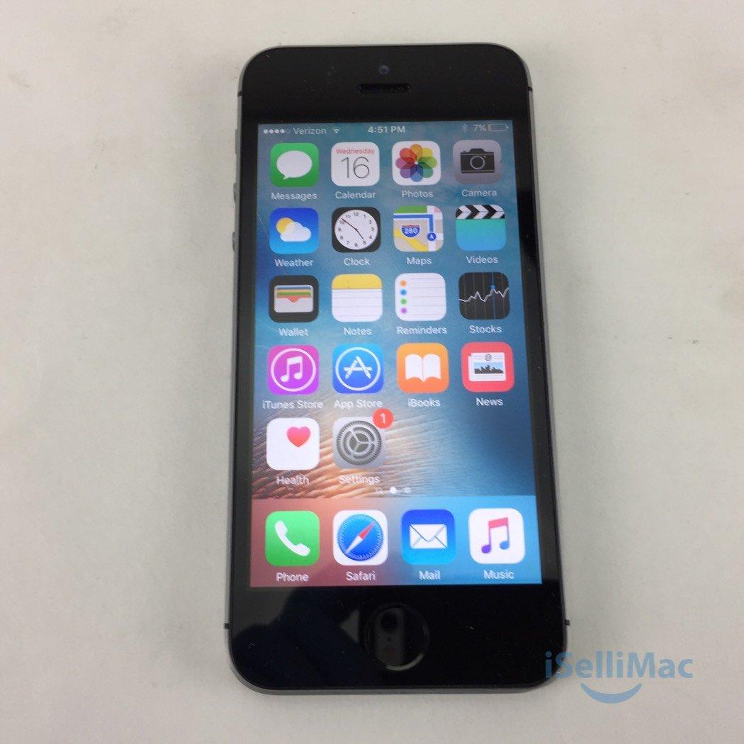 Apple Verizon IPhone 5s 16GB Space Gray ME341LL/A + GSM Unlocked + C Grade