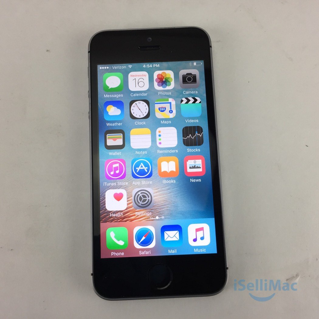 Apple Verizon IPhone SE 64GB Space Gray MLMF2LL/A + GSM Unlocked + B Grade