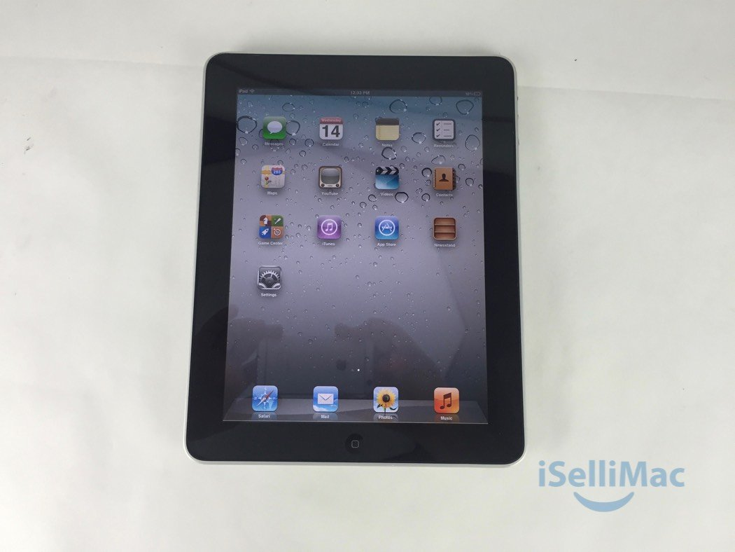 Apple IPad 1ST GEN WiFi 16GB Black MC820LL + B Grade + Accessories + Warranty!