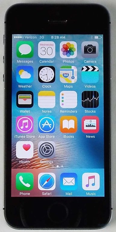 Apple IPhone 5s 16GB Verizon Space Gray ME341LL/A + GSM Unlocked + B Grade