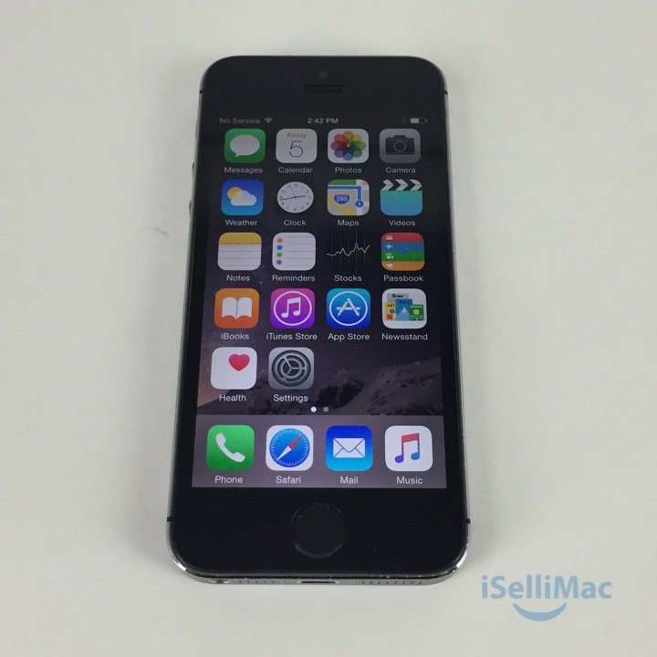 Apple AT&T IPhone 5s 16GB Space Gray ME305LL/A + B Grade + Accessories +Warranty