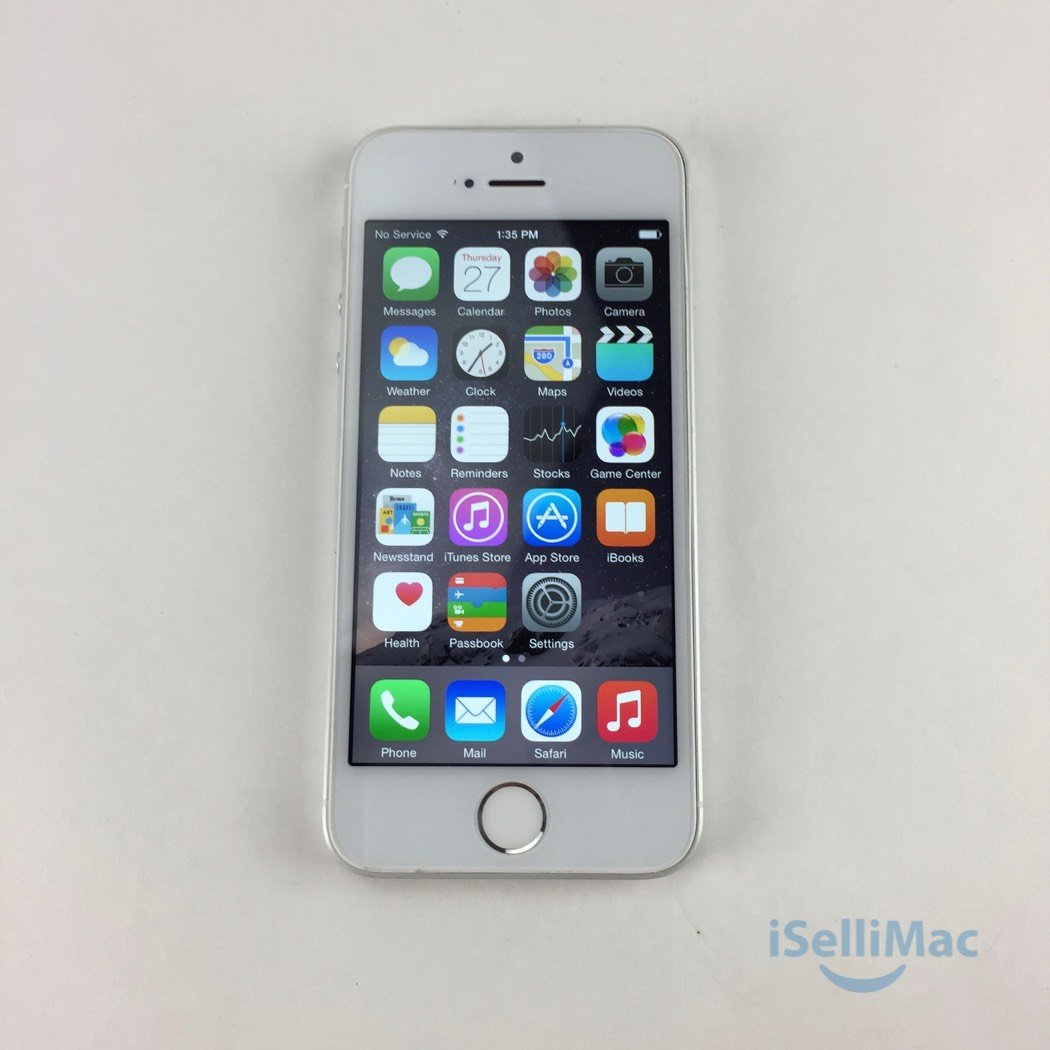 Apple AT&T IPhone 5s 32GB Silver ME309LL/A + B Grade + Accessories + Warranty!