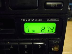 Q TOYOTA 4 RUNNER/ CELICA/ TERCEL/ AD6400 RADIO/ CASS/CD PLAYER