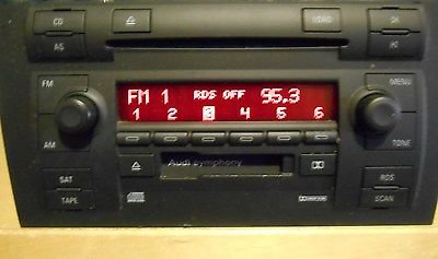04 05 AUDI A4 AUDIO EQUIPMENT 7872494/With code