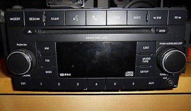 07-12 Jeep Chrysler Dodge AM FM mp3 CD Aux Input  P05064410AI