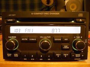 Honda 2006-08 Pilot Radio AM FM 6 Disc CD Player - Part 39100-S9V-A600 Face 1TV6