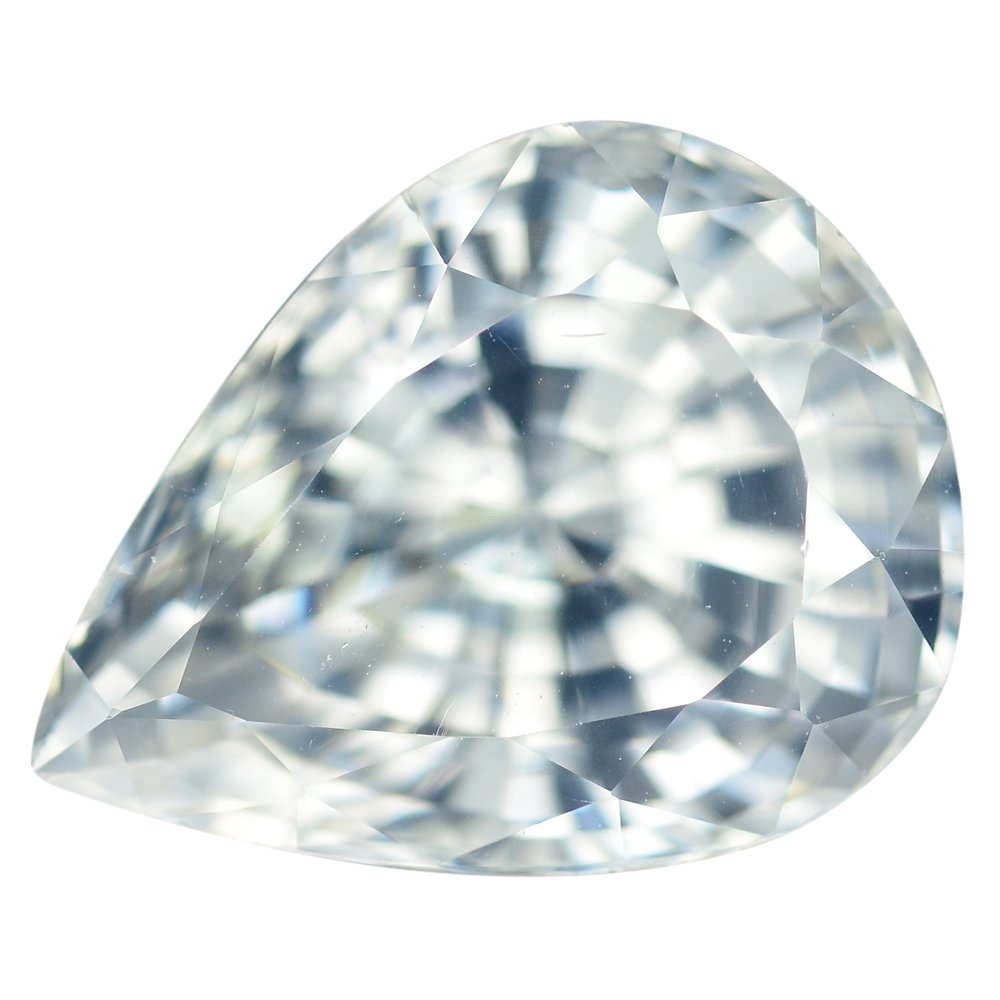 12.2 Ct. Top Luster White Natural Zircon With GLC Certify