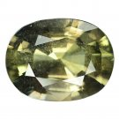 4.66 Ct. Beautiful Unheated Green Sapphire Natural Loose Gemstone With GLC Certify