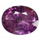 5.43 Ct. Purple Pink Unheated Sapphire Oval Cutting Loose Gemstone With GLC Certify
