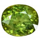 3.38 Ct. Ultra Rare Natural Green Demantoid Garnet Loose Gemstone With GLC Certify