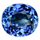 3.47 Ct. Natural Tanzanite Oval AAA Color Top Luster Loose Gemstone With GLC Certify