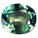 2.03 Ct. Natural Green Sapphire Oval Cut Loose Gemstone With GLC Certify